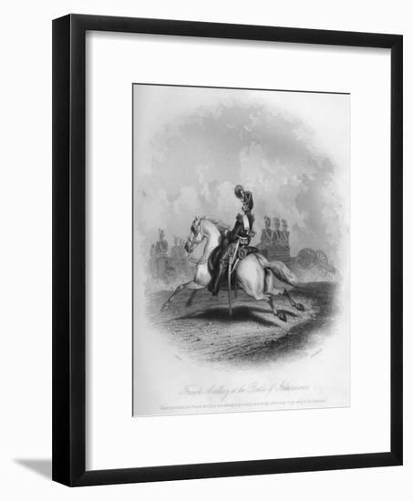 French Artillery at the Battle of Inkermann, 1854-G Greatbach-Framed Giclee Print