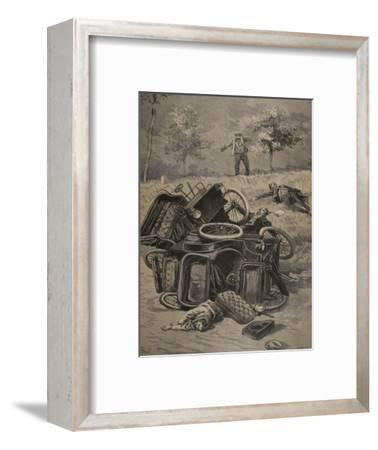 Automobile Accident, Illustration from 'Le Petit Journal: Supplement Illustre', 1898 (Litho)