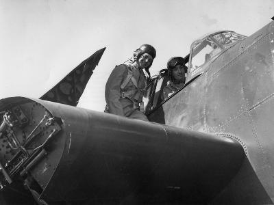 French Aviation Personnel Being Trained at the Naval Air Station, Quonset, Rhode Island, USA, 1951--Giclee Print