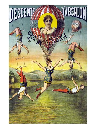 French Balloon Circus Poster--Art Print