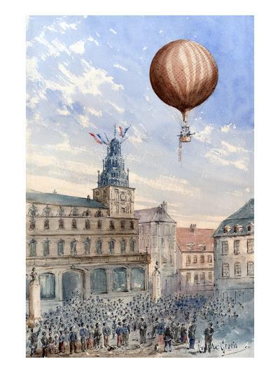 French Balloon Lift Off--Art Print