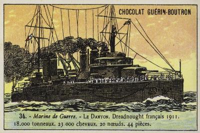 French Battleship Danton, 1911--Giclee Print