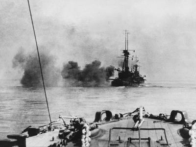 French Battleship in Action in the Dardanelles During World War I-Robert Hunt-Photographic Print