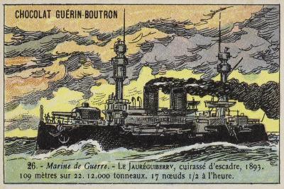 French Battleship Jaureguiberry, 1893--Giclee Print