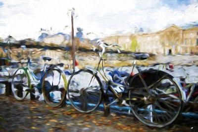 French Bicycles - In the Style of Oil Painting-Philippe Hugonnard-Giclee Print