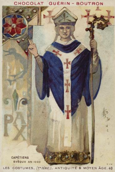 French Bishop of the Capetian Dynasty, 1000--Giclee Print