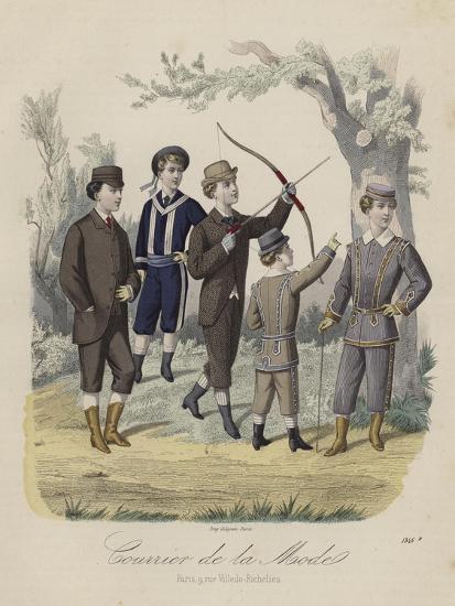 French Boys' Fashions--Giclee Print