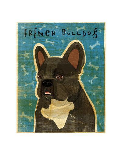 French Bulldog (Black and White)-John W^ Golden-Art Print