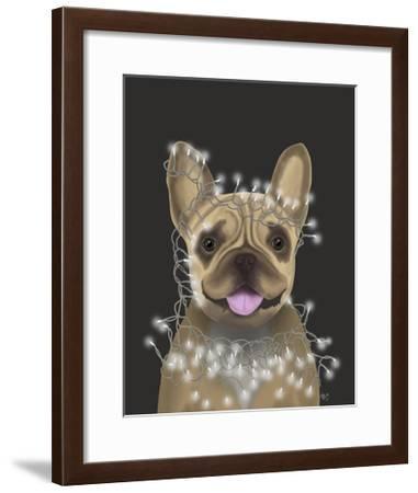 French Bulldog, Christmas Lights 2-Fab Funky-Framed Art Print