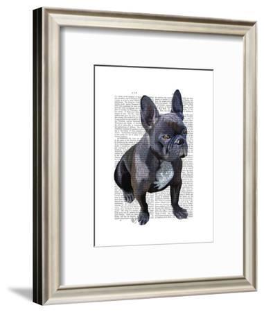 French Bulldog Plain-Fab Funky-Framed Art Print
