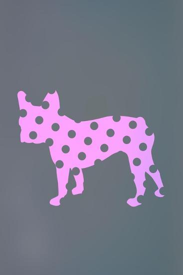 French Bulldog Polka Dots--Art Print