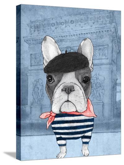 French Bulldog with Arc de Triomphe-Barruf-Stretched Canvas Print