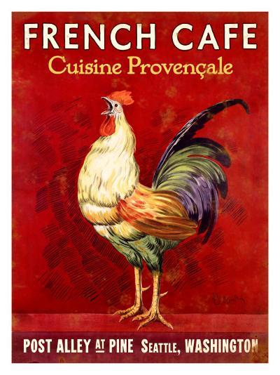 French Cafe, Seattle, Washington--Giclee Print