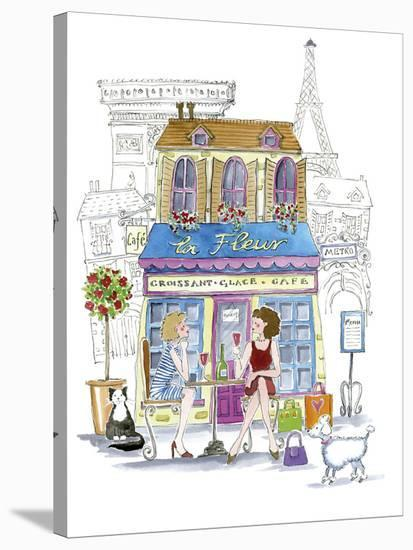 French Cafe-Kate Mawdsley-Stretched Canvas Print