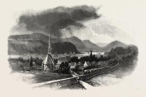 French Canadian Life, Cape Diamond, from St. Romuald, Canada, Nineteenth Century