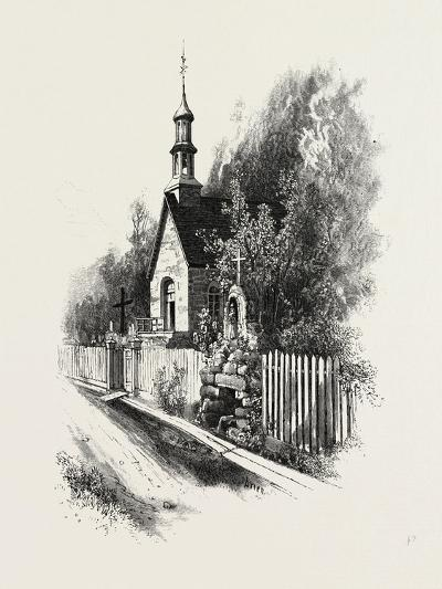 French Canadian Life, Chapel and Grotto at Ste. Anne De Beaupre, Canada, Nineteenth Century--Giclee Print