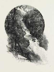 French Canadian Life, Falls of St. Fereol, Canada, Nineteenth Century