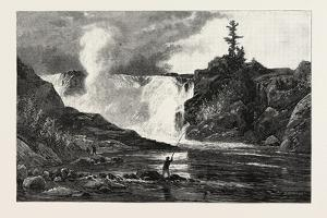 French Canadian Life, Falls of the Chaudiere Near Quebec, Canada, Nineteenth Century