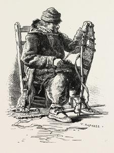 French Canadian Life, Habitant and Snow-Shoes, Canada, Nineteenth Century