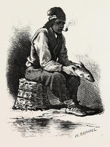 French Canadian Life, Half-Breed Fisherman, Canada, Nineteenth Century