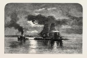 French Canadian Life, Light-Ship on the St. Lawrence, Canada, Nineteenth Century