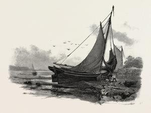 French Canadian Life, Loading a Batteau at Low Tide, Canada, Nineteenth Century