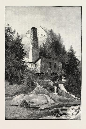 French Canadian Life, Old Chimney and Chateau, Canada, Nineteenth Century--Giclee Print