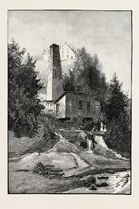French Canadian Life, Old Chimney and Chateau, Canada, Nineteenth Century