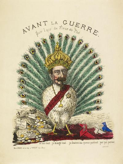 French Caricature - Avant La Guerre--Giclee Print