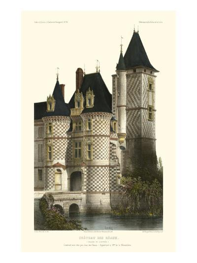 French Chateaux in Blue II-Victor Petit-Art Print