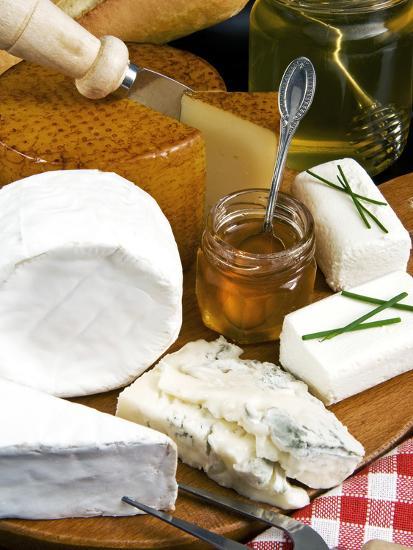 French Cheeses and Honey, France-Nico Tondini-Photographic Print