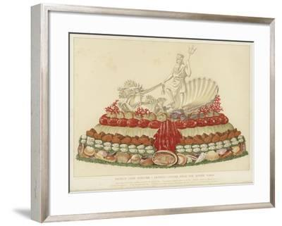 French Chef D'Oeuvre - Artistic Centre Piece for Supper Table--Framed Giclee Print
