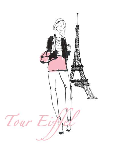 French Chic I Pink on White-Avery Tillmon-Art Print