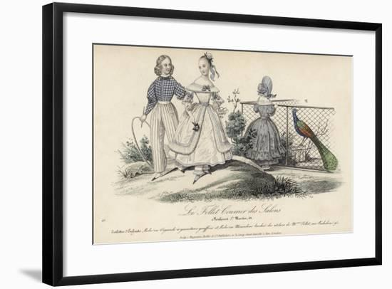 French Children's Fashions, 19th Century--Framed Giclee Print