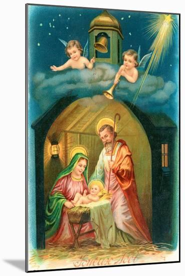 French Christmas Card--Mounted Giclee Print