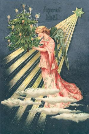 French Christmas Card--Giclee Print