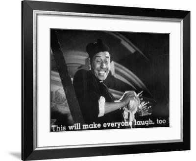 """French Comedian Fernandel Performing in the Movie """"The Little World of Don Camillo""""--Framed Photographic Print"""