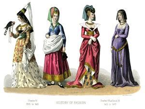 French Costume: Charles VI, Charles VII, Louis XI