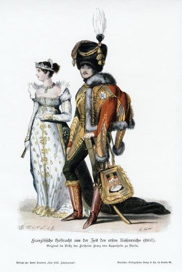French Court Dress of the Time of the First Empire--Giclee Print