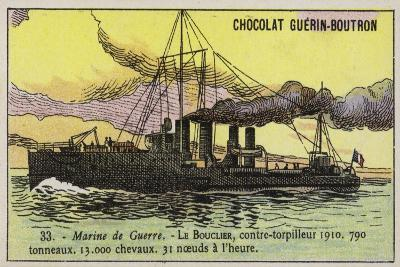 French Destroyer Bouclier, 1910--Giclee Print