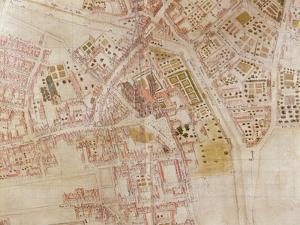 Detail of a Map of Paris Showing the Summit of Montagne Sainte-Genevieve, 1664 by French