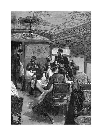 French Dining Car--Giclee Print