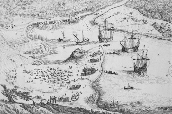 French Disembarking on Cayenne Island by Isreal Silvestre--Giclee Print