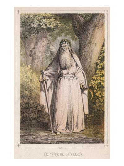 French Druid with Sickle--Giclee Print
