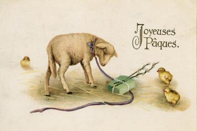 French Easter Card--Giclee Print