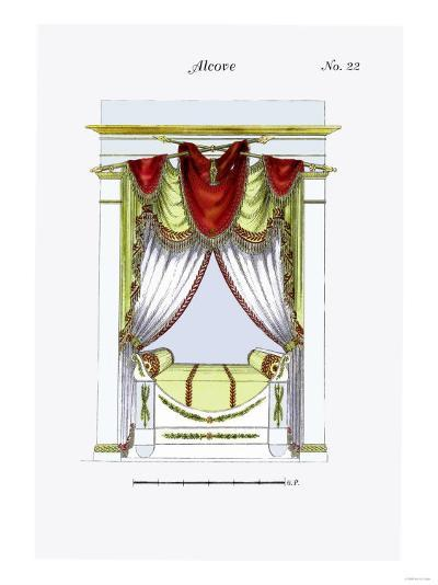 French Empire Alcove Bed No. 22--Art Print