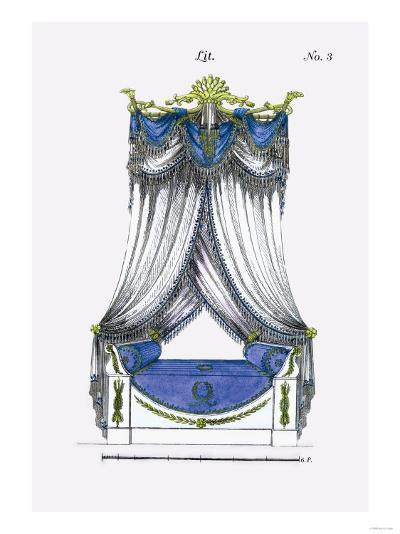 French Empire Bed No. 3--Art Print