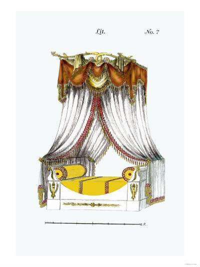 French Empire Bed No. 7--Art Print