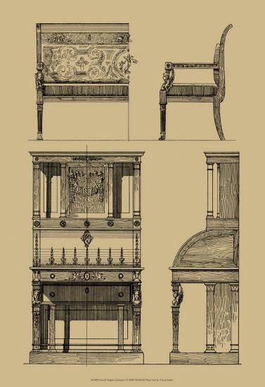 French Empire Furniture I--Art Print