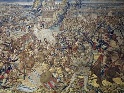 French Encampment Being Invaded by Imperial Troops--Giclee Print